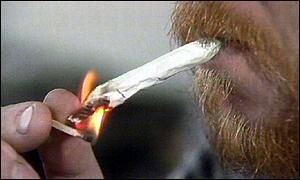 picture of cannabis smoker