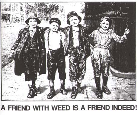 a friend with weed...